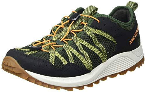Merrell Wildwood Aerosport, Zapatillas para Caminar Hombre, Verde (Lichen), 46 EU