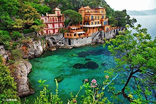 Puzzle Villa da 1000 Pezzi A Bertofino Liguria, Italia per Regali di Famiglia per Adulti