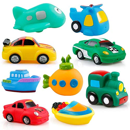 Baño Juguetes Set bañar a los niños juguetes de agua pizca Llamado spray de temperatura del agua Pequeño pato amarillo puede pescar aerosol de agua de juguete de tráfico Serie 9 Por tanto, la interacc