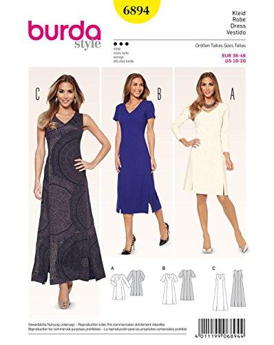 Burda Schnittmuster Kleid 6894