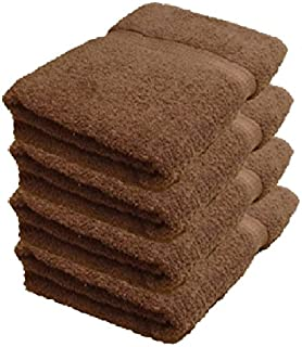 BELLA KLINE DESIGN Deluxe 100% Cotton Bath Towels, Easy Care Affordable, Cotton Towels for Maximum Softness and Absorbency, 4-Pack – Chocolate