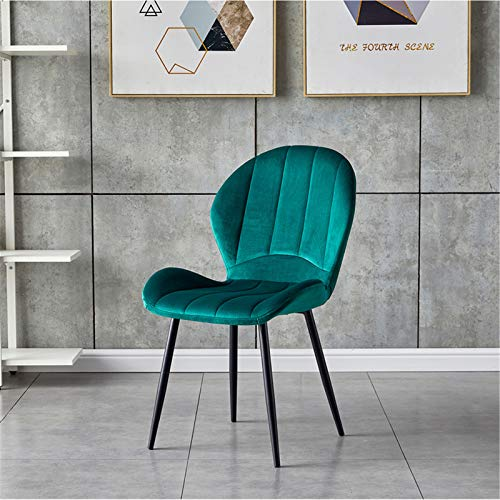 ALUNVA Set Of 2 Velvet Chair,Accent Chair,With Black Metal Frame Legs Living Room Corner Chair Comfortable Padded Seat Tub Chairs Single Sofa-Green 39 * 44 * 87(cm)