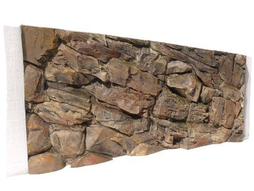 ABG067 Aquarium Rückwand 3D Felsen 120x50 bei Robizoo
