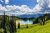Alpen Berge See XXL Wandbild Kunstdruck Foto -Poster- P1684