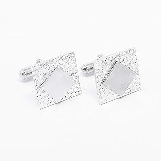 Gemelli quadrati in argento