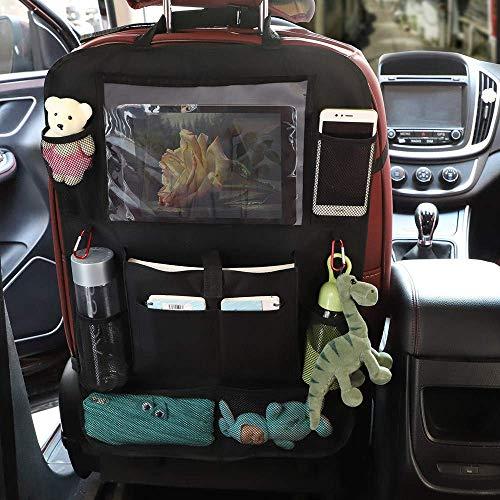 LIJIANZ Preferred products - Bil baksäte arrangör iPad hållare lagring resa multifunktionell multi-pocket bil organisation svart för barn leksak