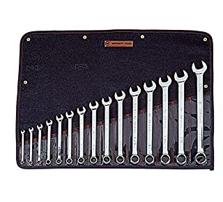 """Wright Tool 915 Full Polish 12 Point Combination Wrench Set 5/16"""" - 1-1/4"""" (15-Piece),Silver (B002M3XF46) 