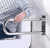 Barra de agarre para montaje en pared, barra de agarre de ducha, barandillas de baño de seguridad para ducha, WC plegable Handicap apoyabrazos barandilla de la bañera, agarre de baño accesorios