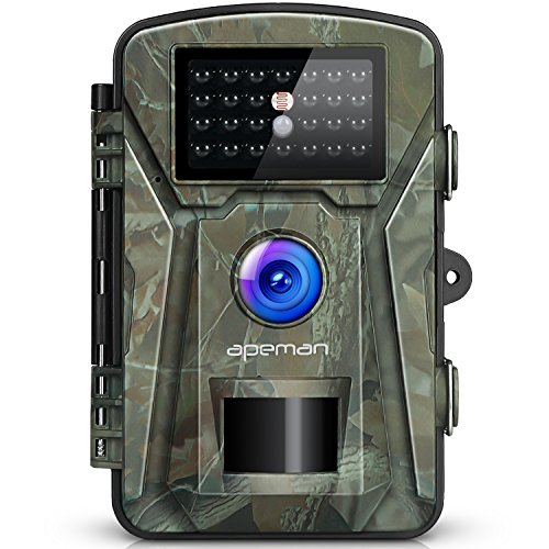 "【New Version】 APEMAN Trail Camera 12MP 1080P 2.4"" LCD Game&Hunting Camera with 940nm Upgrading IR LEDs Night Vision up to 65ft/20m IP66 Spray Water Protected Design"