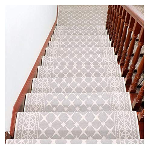 Stair Treads Carpet Indoor Non Slip Rectangle Stair Treads Carpet Self-adhesive Floor Runner Silicone bottom Protection Carpet Pads Non Slip 26X65cm (Color : K, Size : 15 pieces set)