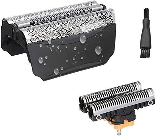51B Cabezales de Afeitado para Bra-un WaterFlex WF1S WF2S Afeitadora Eléctrica Hombre, Lámina y Cortadora Poweka de Repuesto para Bra-un Serie 5 con Cepillo de Limpieza