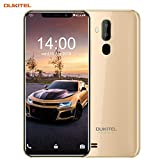 OUKITEL C12 Unlocked Smartphone Global 3G, 6.18 inches (19:9) Screen, 2GB +16GB, Android 8.1 OS, 8MP+2MP Cameras, Dual Sim, Face Fingerprint Recognition Unlocked Cell Phones- Gold