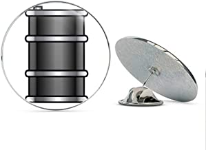 BRK Studio Simple Barrel Battery Capsule Cartoon Emoji Round Metal 0.75