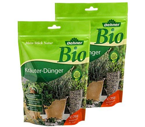 Dehner Bio Kräuter-Dünger, 2 x 750 g (1.5 kg), für je ca. 15 qm