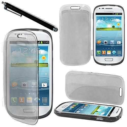 """ebestStar - Cover Compatibile con Samsung S3 Mini Galaxy GT-i8190, i8190N Custodia Silicone Portafoglio Gel, Protezione Anti Shock AntiGraffio +Penna, Nero [Apparecchio: 121.6x63x9.9mm 4.0""""]"""