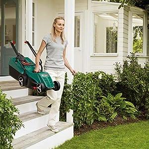 Bosch Rasenmäher ARM 32, 31 l Grasfangkorb, Karton (1200 Watt, 32 cm Schnittbreite, 20-60 mm Schnitthöhe)