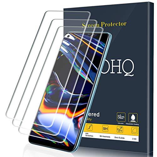 QHOHQ Schutzfolie für Realme 7/Realme 7 Pro/Realme 6/Realme 6S, [3 Stück] Panzerglas Membran, 9H Festigkeit - Blasenfrei - Anti-Fingerabdruck - Anti-Kratz