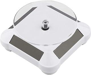healthwen Batería de energía Solar Soporte Giratorio del Soporte de exhibición de la Placa giratoria de 360 Grados