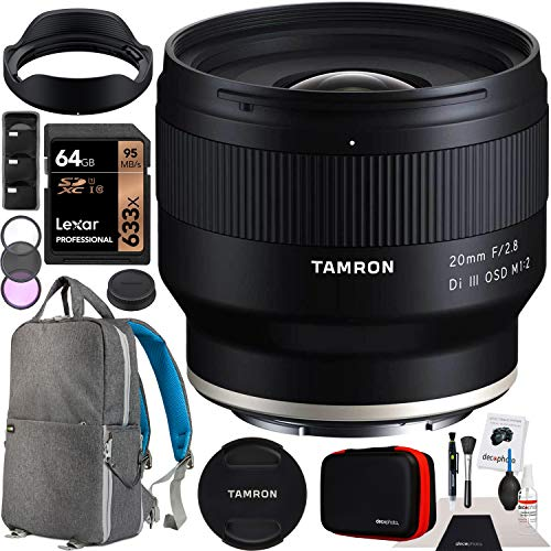 Tamron 20mm F/2.8 Di III OSD M1:2 Lens Model F050 for Sony E-Mount Full Frame Mirrorless Cameras Bundle with Deco...