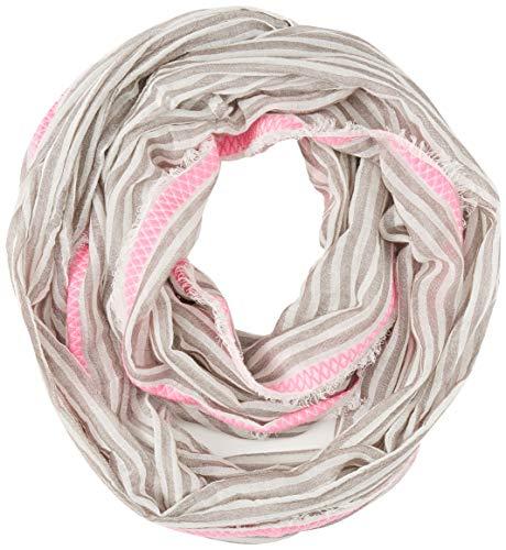 Codello Damen Loop   Schlauchschal   mit Streifenmuster   100% Baumwolle, 1124702, orange, einheitsgröße