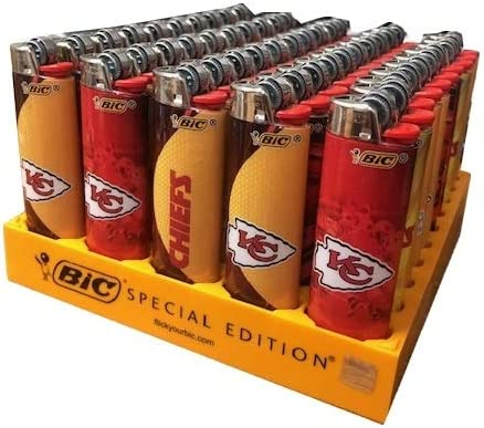 Bic NFL Chiefs Lighters Pack 格安 お気に入 価格でご提供いたします 50 Tray