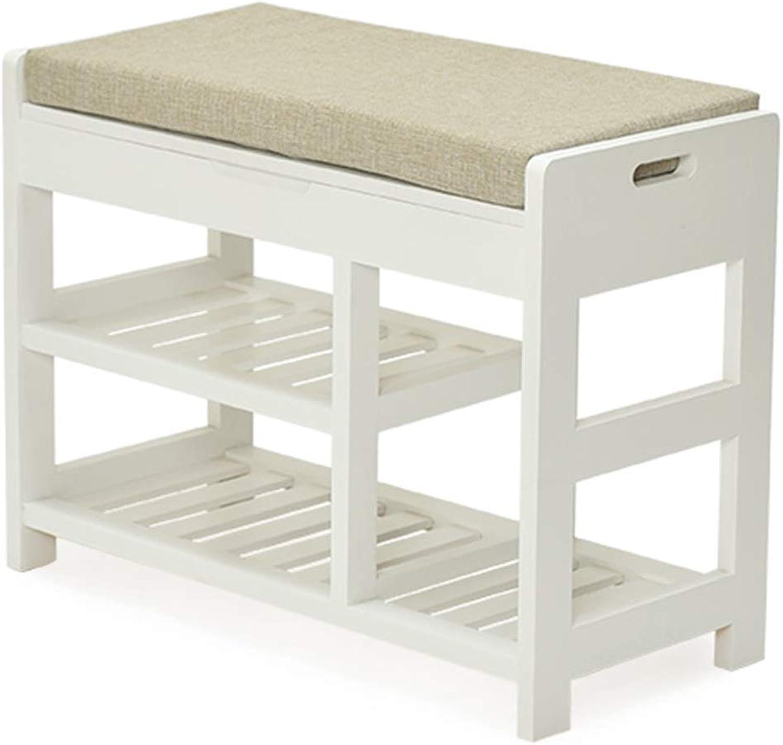 perfecto Reposapiés Reposapiés Conjunto de taburetes de de de lino Conjunto de bastidores de madera maciza Conjunto completo Multifunción para interiores, 2 Colors, 2 tamaños (Color  blancoo, Tamaño  66x30x49cm)  descuento de ventas
