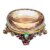 LYQZ Cenicero de aleación de Cristal cenicero for Regalos de artesanía de Sala de Estar Personalidad (Color : B)