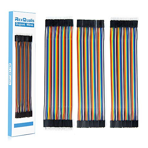120pcs Multicolored Dupont Wire Kit 40pin Male to Female, 40pin Male to Male, 40pin Female to Female Breadboard Jumper Wires Ribbon Cables Kit