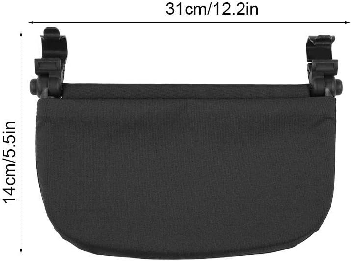 Zerodis Baby Stroller 14cm Extension Footrest Compatible with Yoya VOVO(Black)