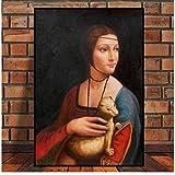 LIUXR Dame mit einem Hermelin von Da Vinci Poster Bilder