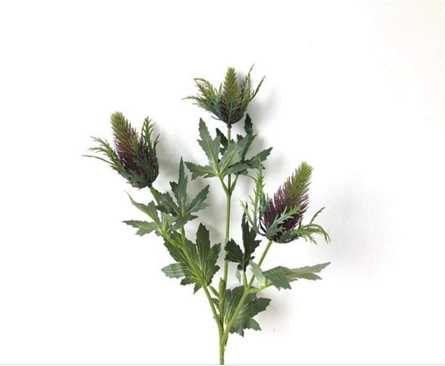 HAODA Fresno Mall Artificial Plants Surprise price 3 Heads Simulation Plant Eryngium Flower