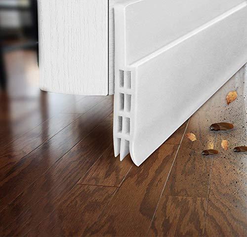 2 Pack Door Draft Stopper Under Door Draft Blocker for Exterior/Interior Doors, Under Door Seal Soundproof Door Sweep Weather Stripping, Interior Door Threshold Soundproof, 2