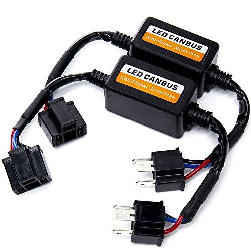 FMS Auto Faro Lampadine LED Decoder H4 9003 HB2 Canbus Adattatore Canceller Errore Avviso Resistore (2 Pezzi)