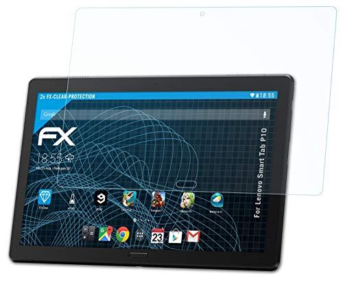 atFolix Schutzfolie kompatibel mit Lenovo Smart Tab P10 Folie, ultraklare FX Bildschirmschutzfolie (2X)
