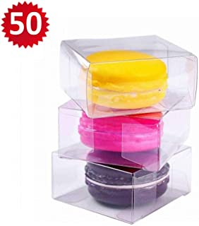 RomanticBaking 50pcs Clear Single Macaron Box for Wedding Favors Baby Shower 2.17