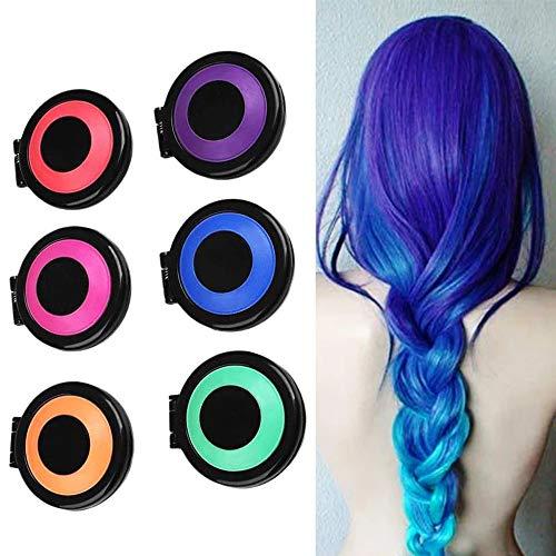 ZXY 6 Farben Haarkreide, Ungiftig Abwaschbar, Unmittelbarer Haarkreidekamm Arbeitet Auf Allen Haarfarben Mit Schal Haarkreidekräften Arbeitet in Allen Haarfarben