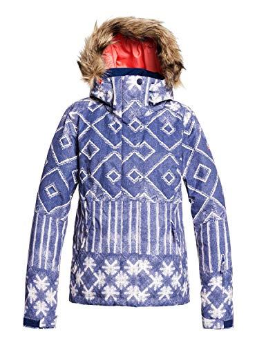 Roxy Damen Jet Ski SE-Snow Jacke für Frauen, mid Denim Wake up, S