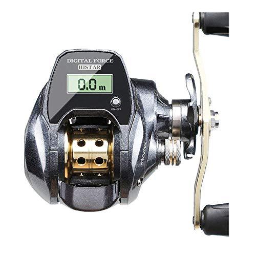 ZHYP Moulinet de pêche électronique à Affichage numérique 2021 Nouveau 7.0: 1 Rapport Haute Vitesse Compteur de Ligne à Profil Bas Baitcasting Moulinet Outils de pêche-18_Main Gauche_Chine