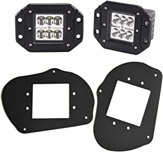DaSen 2x 24W LED Headlights Pod Fog light w/Front Head Light Mount Brackets For Polaris Sportsman 1000 850 570 RZR 800 900XP