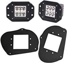 DaSen 2x 24W LED Headlights Pod Fog light w/Front Head Light Mount Brackets For Polaris Sportsman 1000 850 570 RZR 800 900XP