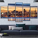 Cuadros Modernos Impresión De Imagen Artística Digitalizada Centro De San Francisco Lienzo Decorativo para Salón O Dormitorio 5 Piezas XXL