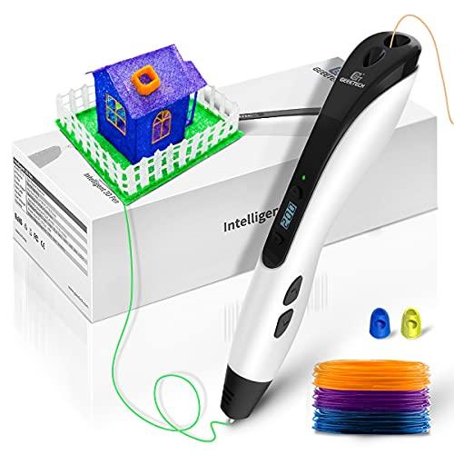 Pluma 3d, GEEETECH Plumas para impresión 3D con Pantalla LCD Inteligente Compatible con el Filamento PLA/ABS 1.75 mm