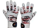 FullScope Sports Baseball Batting Gloves for Adult Boys Girls Youth Pro Softball Glove (6-17 Years) (Red/Black/White Digital Camo) Youth Medium (Ages 7-8 yrs Old)