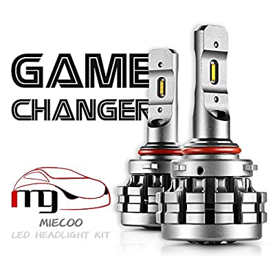 Miecoo H11 H8 H9 LED headlight bulbs Conversion kit-60W 7,200LM 6000K Xenon White Low Beam Headlamp- HID or Halogen Headlight Replacement-3Yr Warranty