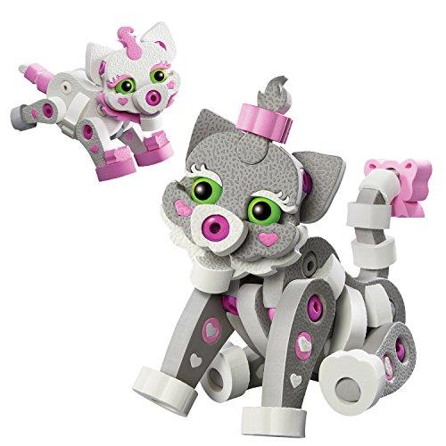 herpa 85BC-20003 Figuras de Bloco: Gato y Gatitos-Juguetes para Hacer, coleccionar y como Regalo (Stem)