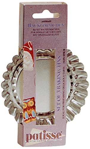 patisse 2048151 Moule à tartelettees-Set Basic 10 cm (3 cavités), Autre