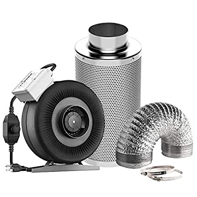 VIVOSUN Inline Fan Carbon Filter Ducting Combo