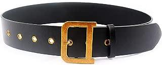 Womens Leather Belt Wide D Buckle Designer Belt For Dresses Fashion Women's Belts for Windbreaker Coat