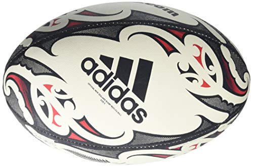 adidas unisex-adult NZRU Replica Rugby Ball White 5