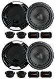 4 New Renegade RX6.2C 6.5' 400W 2 Way Car Component Audio Speakers System Stereo